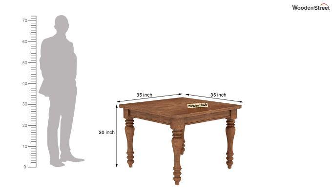 Bonita 2 Seater Printed Dining Set (Dusky Leaf, Teak Finish)-8