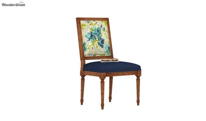 Bonita 2 Seater Printed Dining Set (Teal Tulip, Natural Finish)-6