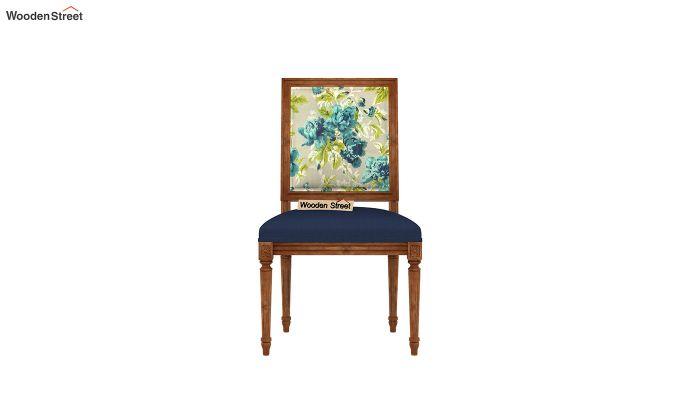 Bonita 2 Seater Printed Dining Set (Teal Tulip, Natural Finish)-7