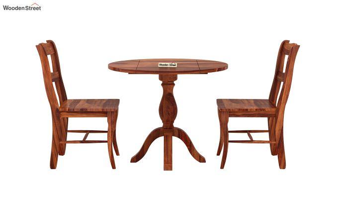 Clove 2 Seater Dining Set (Honey Finish)-4