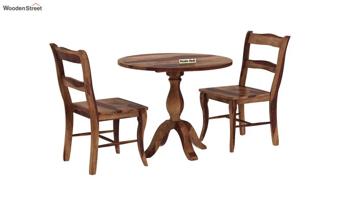 Clove 2 Seater Dining Set (Teak Finish)-3