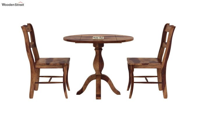 Clove 2 Seater Dining Set (Teak Finish)-4