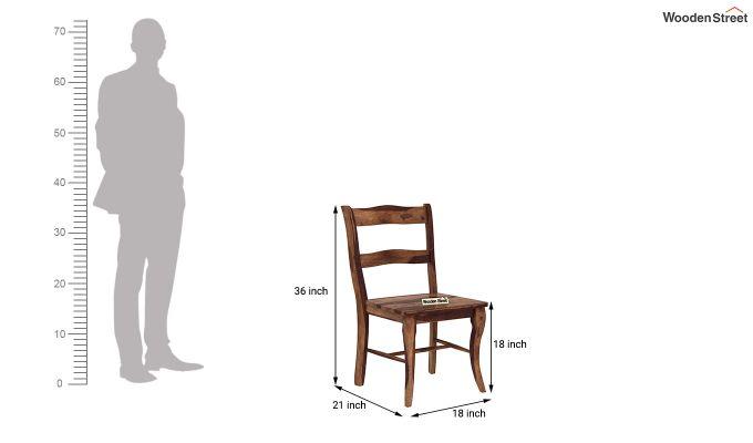 Clove 2 Seater Dining Set (Teak Finish)-11