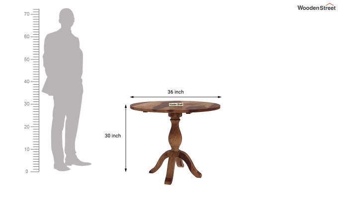 Clove 2 Seater Dining Set (Teak Finish)-10