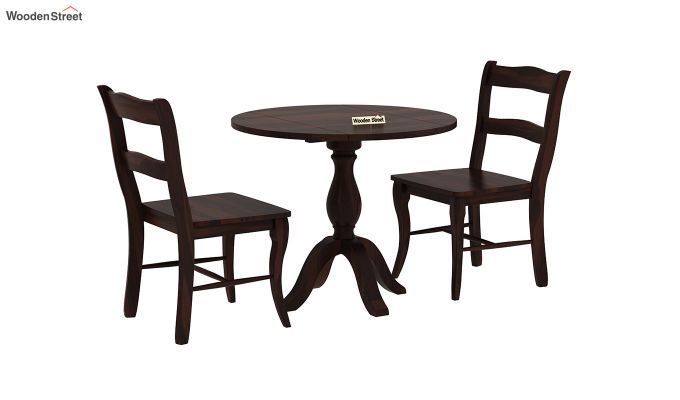 Clove 2 Seater Dining Set (Walnut Finish)-3