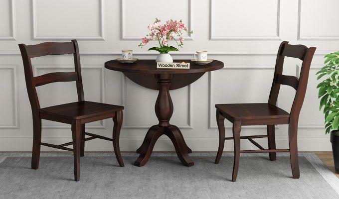 Clove 2 Seater Dining Set (Walnut Finish)-2