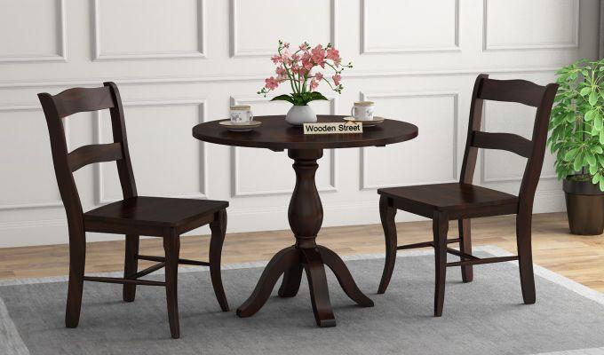 Clove 2 Seater Dining Set (Walnut Finish)-1