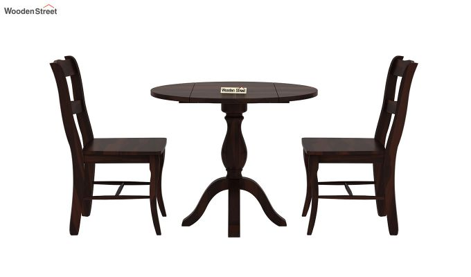 Clove 2 Seater Dining Set (Walnut Finish)-4