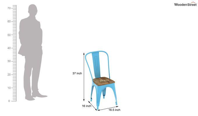 Cora Metal 2 Seater Dining Set (Natural Finish)-6