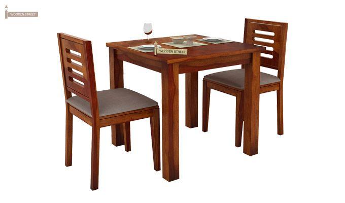 Janet 2 Seater Dining Set (Honey Finish)-2