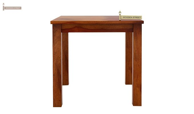 Janet 2 Seater Dining Table (Honey Finish)-2