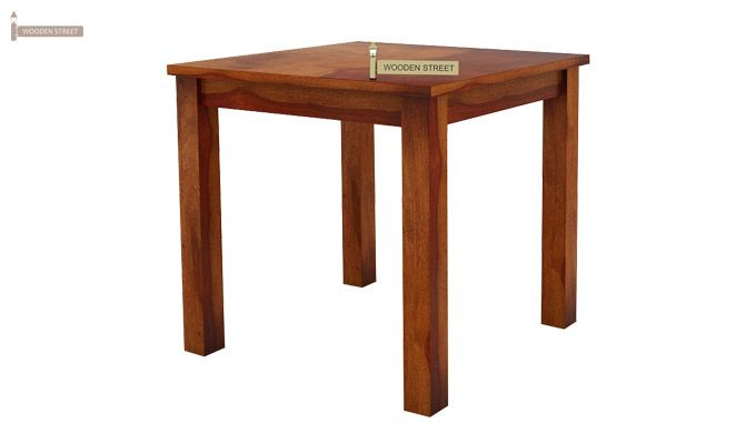 Janet 2 Seater Dining Table (Honey Finish)-3