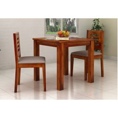 Janet 2 Seater Dining Set (Honey Finish)