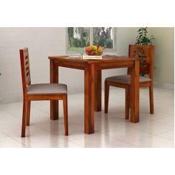 Janet 2 Seater Dining Set (Honey Finish)