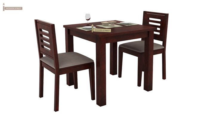 Janet 2 Seater Dining Set (Mahogany Finish)-2