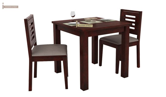 Janet 2 Seater Dining Set (Mahogany Finish)-1