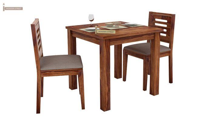 Janet 2 Seater Dining Set (Teak Finish)-1