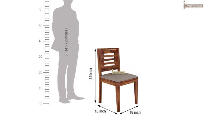 Janet 2 Seater Dining Set (Teak Finish)-8