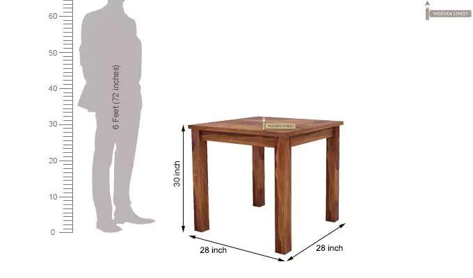 Janet 2 Seater Dining Set (Teak Finish)-7