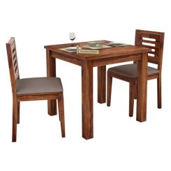 Janet 2 Seater Dining Set (Teak Finish)