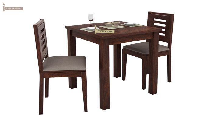 Janet 2 Seater Dining Set (Walnut Finish)-1
