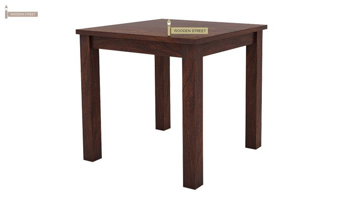 Janet 2 Seater Dining Table (Walnut Finish)-2
