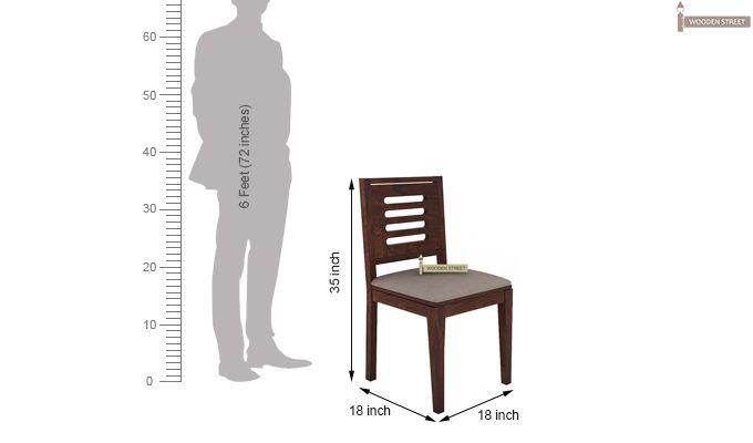Janet 2 Seater Dining Set (Walnut Finish)-8