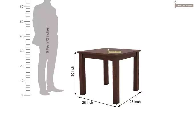 Janet 2 Seater Dining Table (Walnut Finish)-3