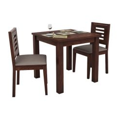Janet 2 Seater Dining Set (Walnut Finish)
