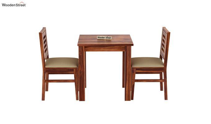 Janet 2 Seater Dining Set (Honey Finish)-3