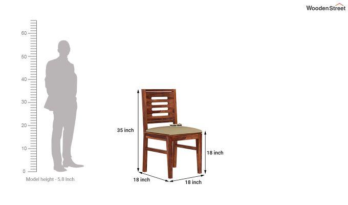 Janet 2 Seater Dining Set (Honey Finish)-9