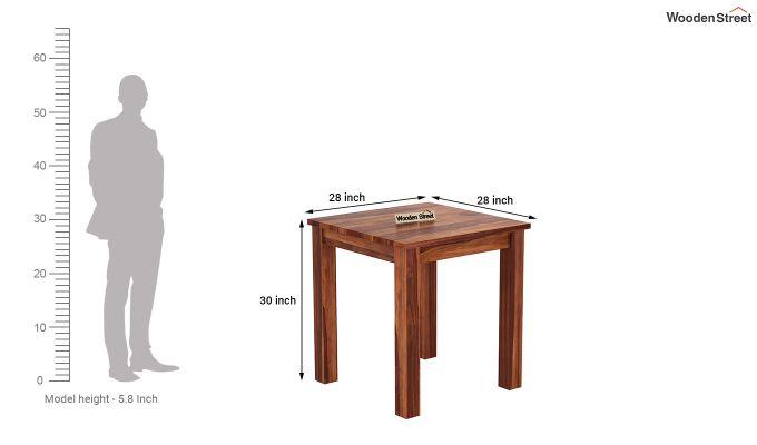 Janet 2 Seater Dining Set (Honey Finish)-8