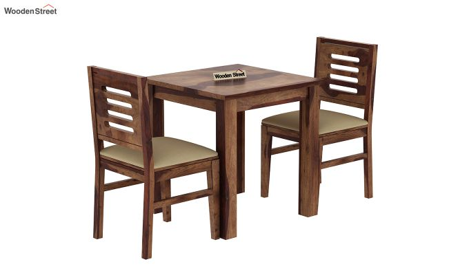 Janet 2 Seater Dining Set (Teak Finish)-2