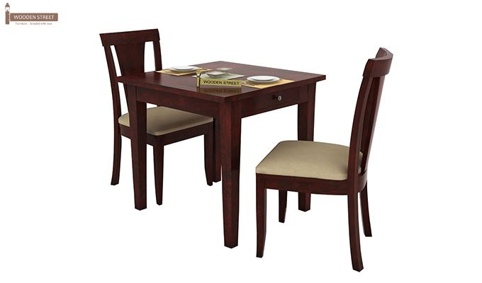 Mcbeth Storage 2 Seater Dining Table Set (Mahogany Finish)-2