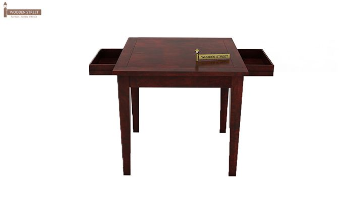 Mcbeth Storage 2 Seater Dining Table Set (Mahogany Finish)-4