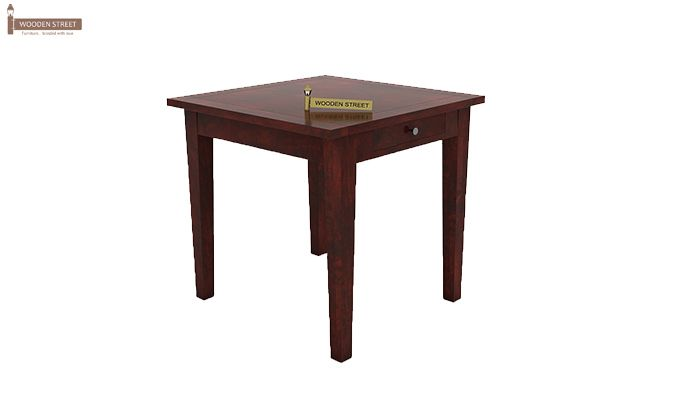 Mcbeth Storage 2 Seater Dining Table Set (Mahogany Finish)-5