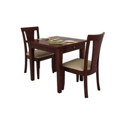 Mcbeth Storage 2 Seater Dining Table Set (Mahogany Finish)