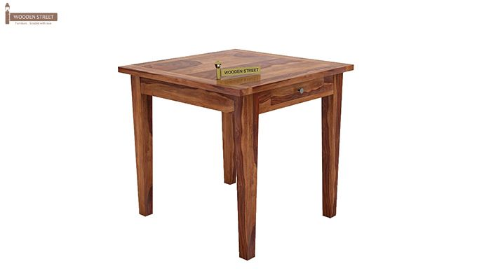 Mcbeth Storage 2 Seater Dining Table Set (Teak Finish)-4