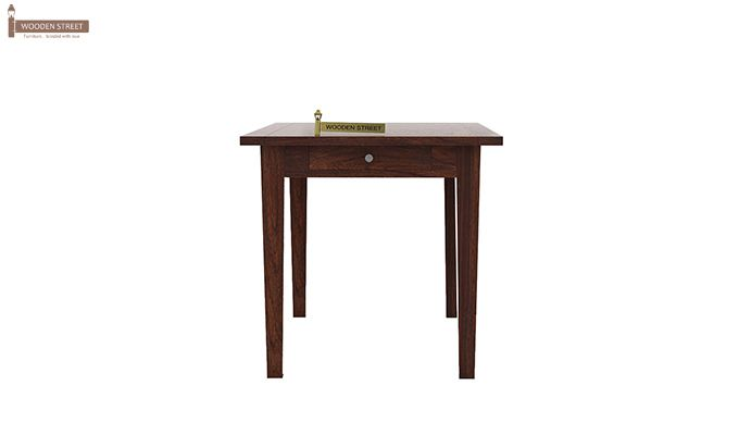 Mcbeth Storage 2 Seater Dining Table Set (Walnut Finish)-3
