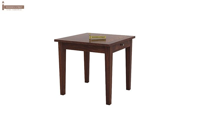 Mcbeth Storage 2 Seater Dining Table Set (Walnut Finish)-4