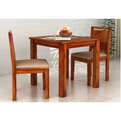 Orson 2 Seater Dining Set (Honey Finish)