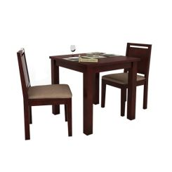 Orson 2 Seater Dining Set (Mahogany Finish)