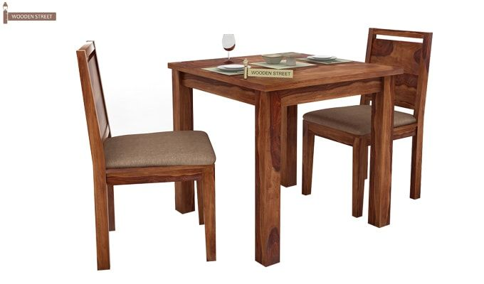 Orson 2 Seater Dining Set (Teak Finish)-1