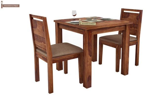 Orson 2 Seater Dining Set (Teak Finish)-2