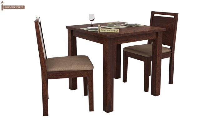 Orson 2 Seater Dining Set (Walnut Finish)-1