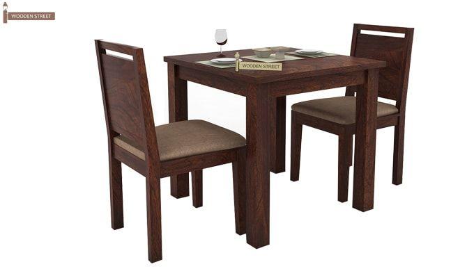 Orson 2 Seater Dining Set (Walnut Finish)-2