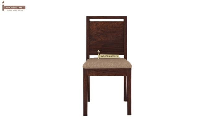 Orson 2 Seater Dining Set (Walnut Finish)-5
