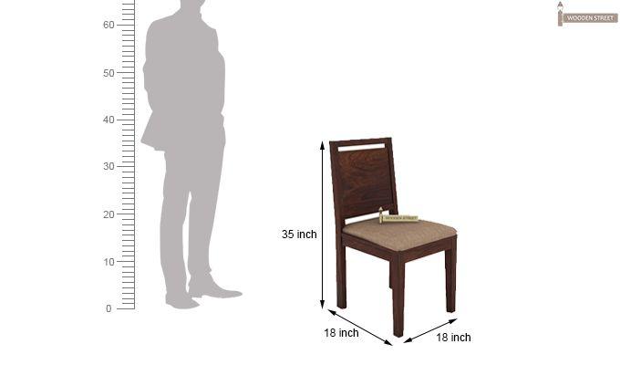 Orson 2 Seater Dining Set (Walnut Finish)-8