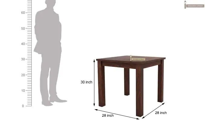 Orson 2 Seater Dining Set (Walnut Finish)-7