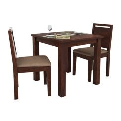 Orson 2 Seater Dining Set (Walnut Finish)